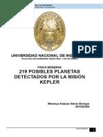219 Posibles Planetas Detectados Por La Misión Kepler