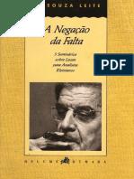A Negação da Falta - 5 seminários sobre Lacan para Analistas Kleinianos.pdf