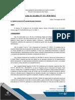 MODELO DE RESOLUCIÓN DE ALCALDÍA APROBANDO FICHA TÉCNICA JECUCIÓN DE ACTIVIDAD - TRABAJA PERÚ - DU 70-2020