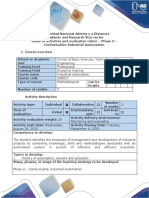 Activities Guide and Evaluation Rubric - Phase 0 - Contextualize Industrial Automation.