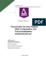 Analisis De Sistemas II  #6 Documento Completo