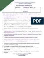 CASTELLANO EVALUACION 9°