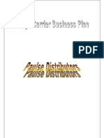 Paulse Distributors Business Plan