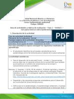 Guía de actividades y rúbrica de evaluación  - Fase 1 - Conceptos básicos sobre Epidemiología