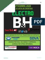 CATALOGO LANDING SEPTIEMBRE - 2020 ELECTRO B&H