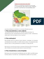 Los pisos ecologicos de Bolivia - Tarea
