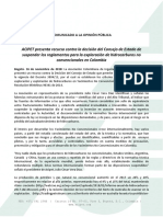 COMUNICADO FINAL-CONSEJO DE ESTADO