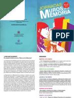 Programa Jornadas Muros Memoria