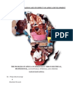 Western Admnistration and Its Effect on Africa Development
