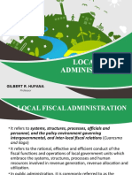 Lecture 04 Local Fiscal Administration
