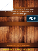 The Self as Embedded in Relationships and through Spiritual Relationship in Confucian Thought