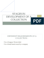 Stages in Development of a Collection