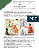 Examen de Selectividad 2020 52 Cultura Audiovisual