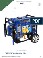 FG9250PE Petrol Generator 7.5kw _ Ford Power Equipment