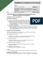 03 HOJA DE INF - Identificación de los materiales de construcción de las máquinas, equipos e instrumentos