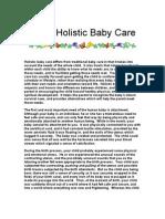 Basic Holistic Baby Care