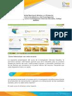 Presentación del curso Investigación en Ciencias Sociales