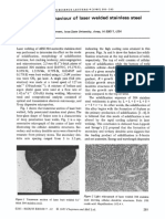 Solidification behaviour of laser welded stainless steel