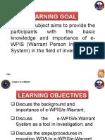 2.14 e-WPIS (e-Warrant)