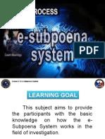 2.15 e-Subpoena System