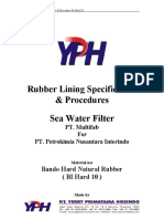 Rubber Linning procedure titan project