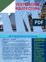 INVESTIGACION EN ARQUITECTURA1