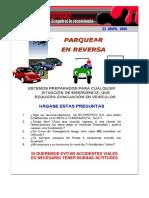 Alerta Vial  PARQUEAR EN REVERSA 7