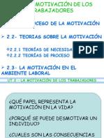 LA MOTIVACIÓN DE LOS TRABAJADORES