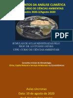 análise climática AULA 19 DE AGOSTO