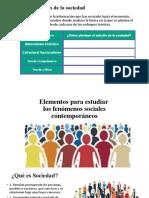 3. Elementos para estudiar los fenómenos sociales contemporáneos