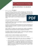 Modulo 6 - LA AUDITORIA ESTRATEGICA Y EL ANÁLISIS DE VULNERABILIDAD