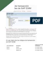 013 Códigos de transacción importantes de SAP EWM