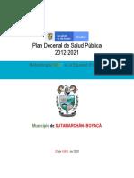 PLAN TERRITORIAL DE SALUD SUTAMARCHAN  2020 -2023 FINAL