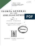 Teoría general de las -Pérez- Volumen IV- PARTE TERCERA