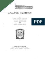 Analytic Geometry Siceloff Wentworth Smith Edited