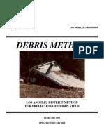 US Army Corps of Engineers Los Angeles District Debris Method