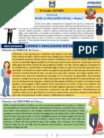 TUTORÍA 5° GRADO - PROMOCIÓN DE LA INCLUSIÓN SOCIAL