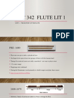 ALC 342 Unit 1 The History of the Flute
