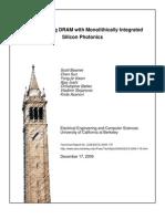 rearchitecting dram photonics EECS-2009-179