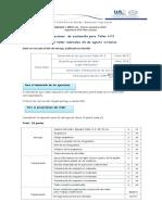 Indicación presentación evaluación de Taller Nº2