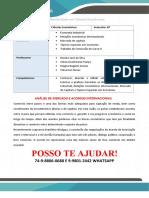 Ciências Econômicas Semestre 7_8º Análise de Mercado e Acordos Internacionais