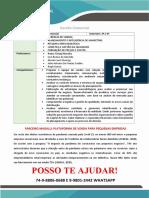 Gestão Comercial Anhanguera 4° Semestre Parceiro Magalu plataforma de venda para pequenas empresas