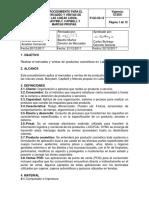 P-GC-03-12 Procedimiento para el mercadeo y ventas de las lineas Lissia Maxybelt Capibell y Marcas propias