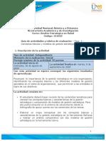 Guia de actividades y Rúbrica de evaluación - Fase 1 - Conceptos basicos y modelos de gestión estratégica