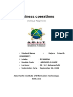 Business Operations Individual Assignment