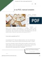 Como passar na FCC_ confira o manual completo da banca da FCC