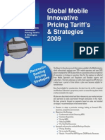 Global Innovative Pricing tariffs Structures Plan and Strategies Volume VII ( Consumer Segment )-1