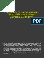 Declaración investigadora de la UAM sobre la reforma