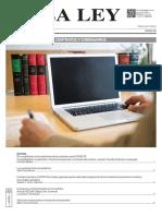 Artículos Jurídicos Covid-19 La Ley Argentina