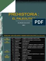 CLASE 1 PREHISTORIA - EL PALEOLITICO